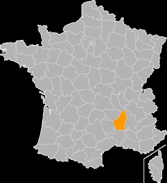 ARDECHE MAP